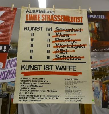 Plakat im Centro Sociale in Hamburg - Foto: 2013 by Schattenblick