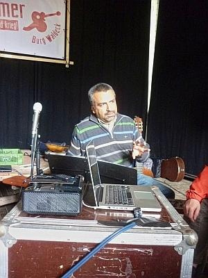 Daniel Osorio während der Diskussion - Foto: © 2015 by Schattenblick