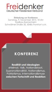 Freidenkerkonferenz, Frankfurt am Main, 9.11.2013