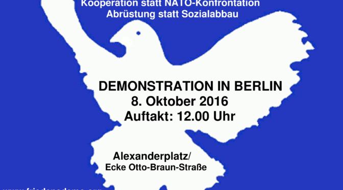 Friedensdemo Berlin 8. Oktober